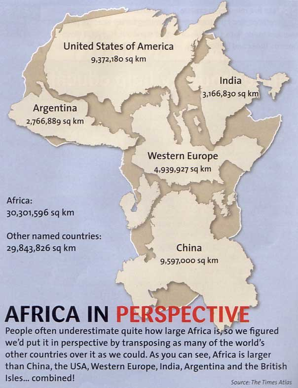 africa perspective map