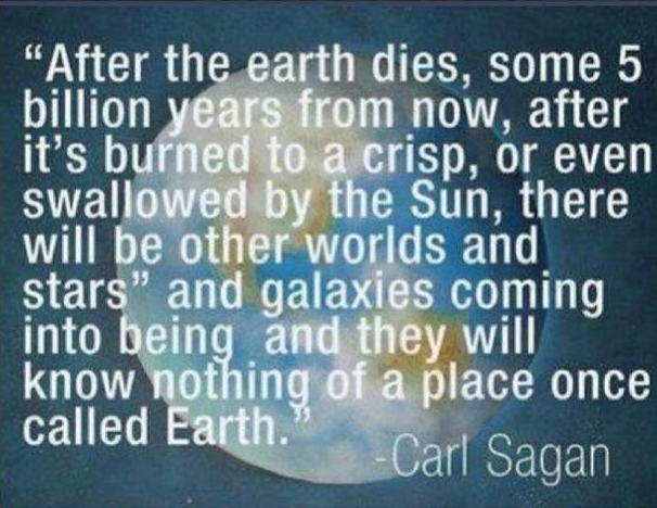 after earth dies carl sagan