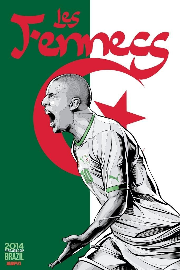 algeria - world cup 2014 team posters
