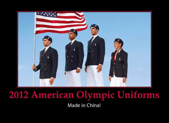 american uniforms olympics made china