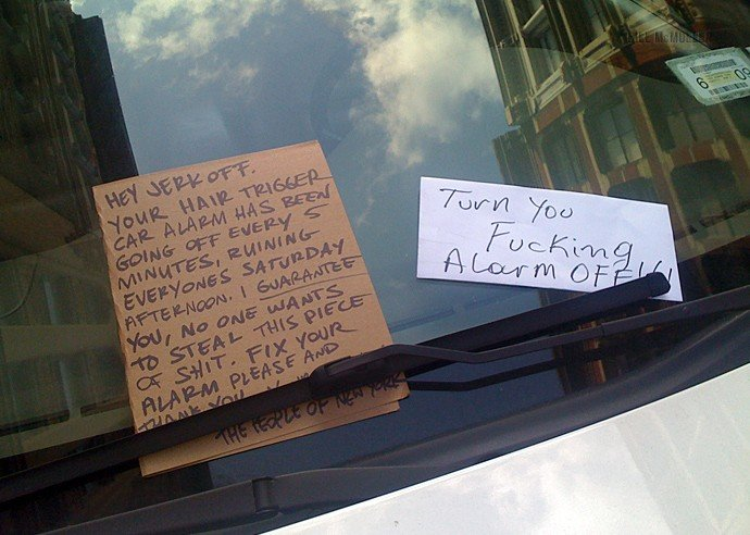 angrynote - angry notes left on cars