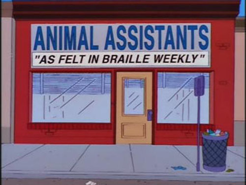 animalassistants - funny signs from the simpsons