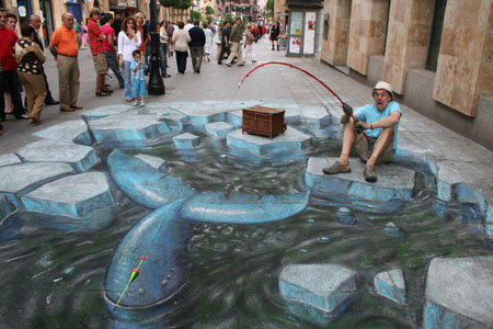 arcticwhale - amazing 3d street art by julian beever