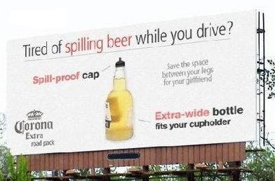 are tired spilling beer while drive