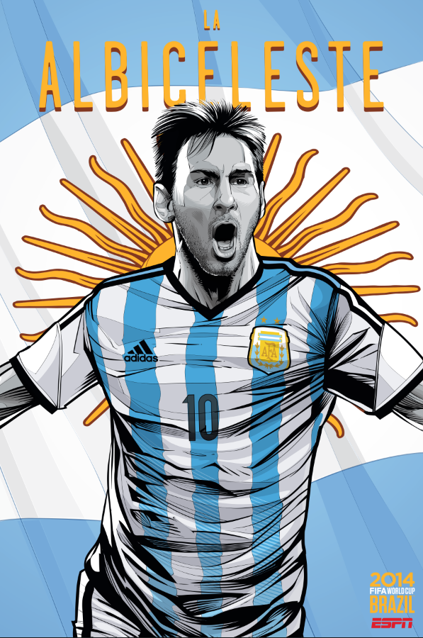 argentina - world cup 2014 team posters