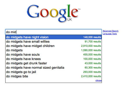 autocomplete - best ever google search suggestions