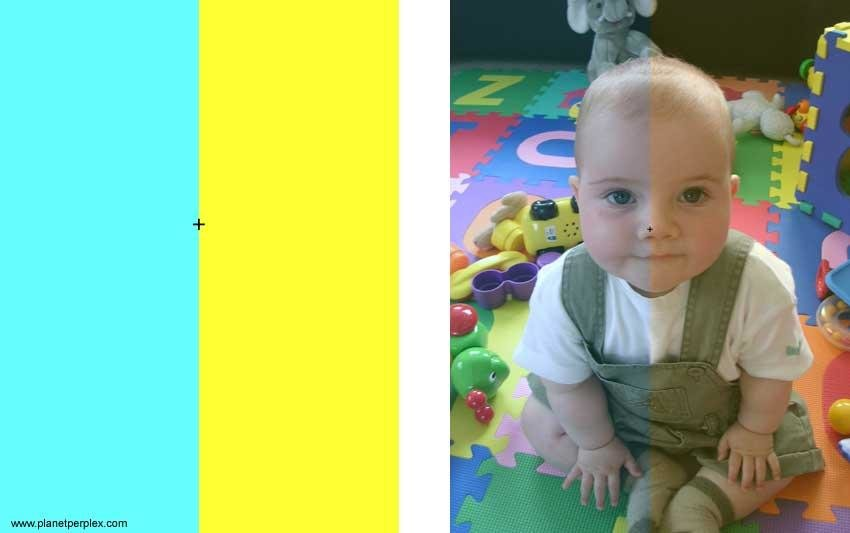 baby - colour illusion