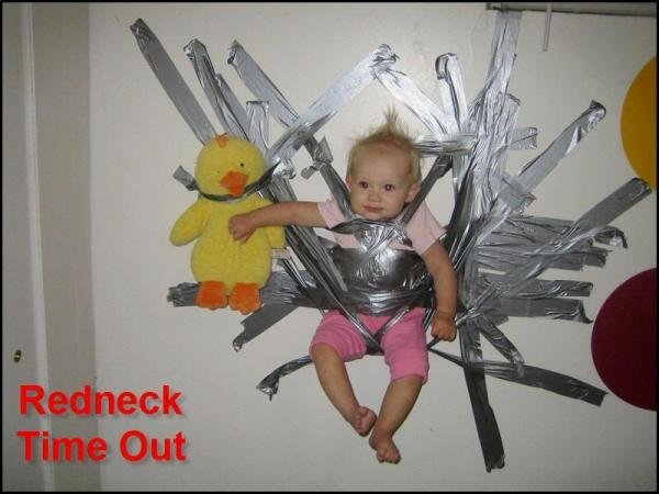 baby taped wall