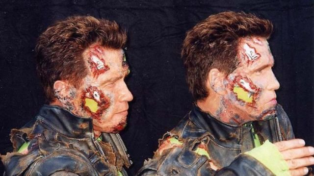 backstage photos from making terminator films