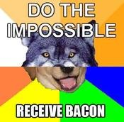 bacon - combo-dog the twisted cousin of advice memes