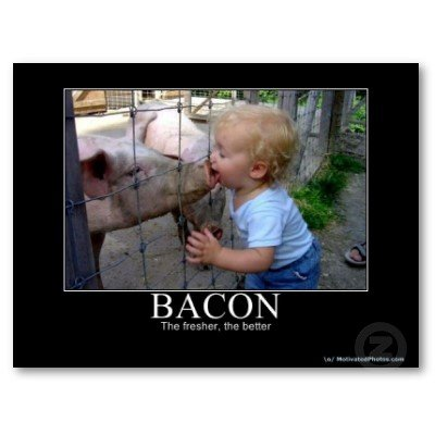 bacon motivational poster