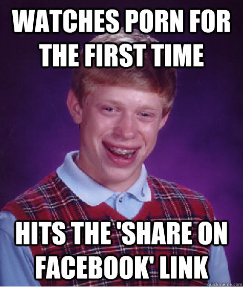 bad luck brian watches porn
