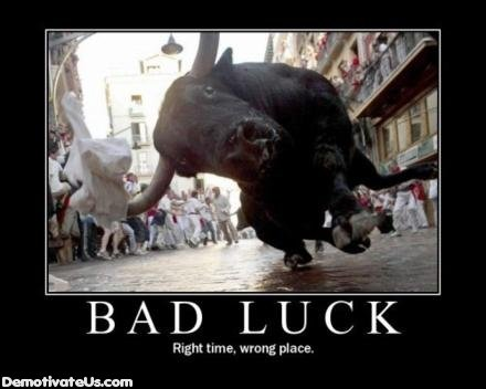 bad luck demotivational posters