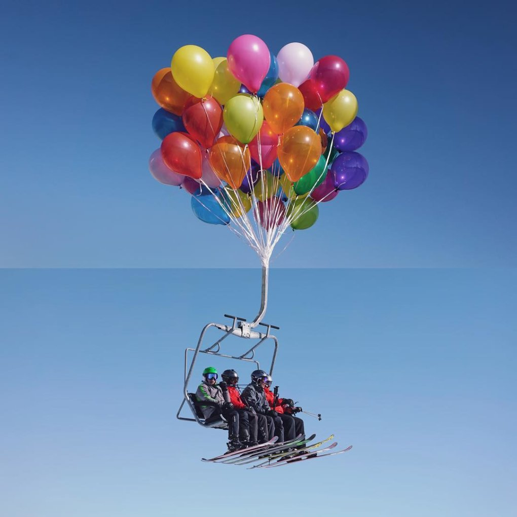 balloons chairlift