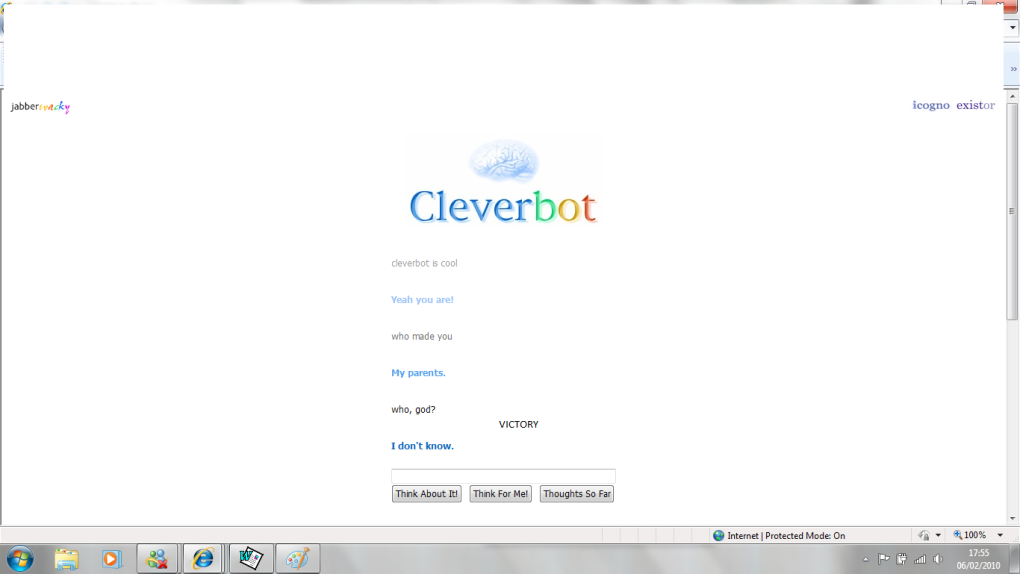 beat cleverbot