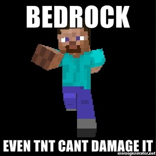 bedrock even tnt cant damage