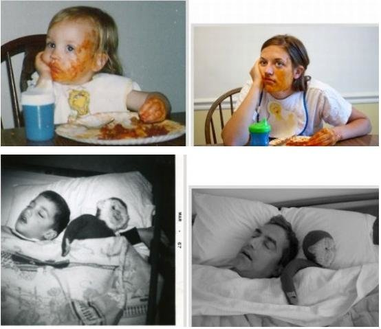 before and now10 - childhood vs now