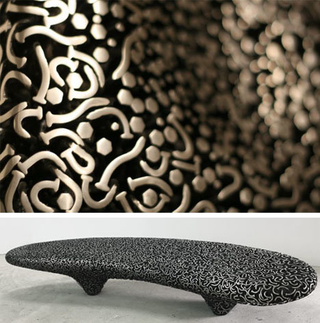 benches artistic nails metal