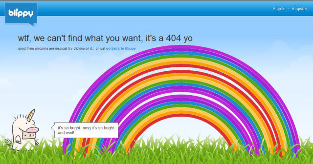 blippy - some of the best 404's