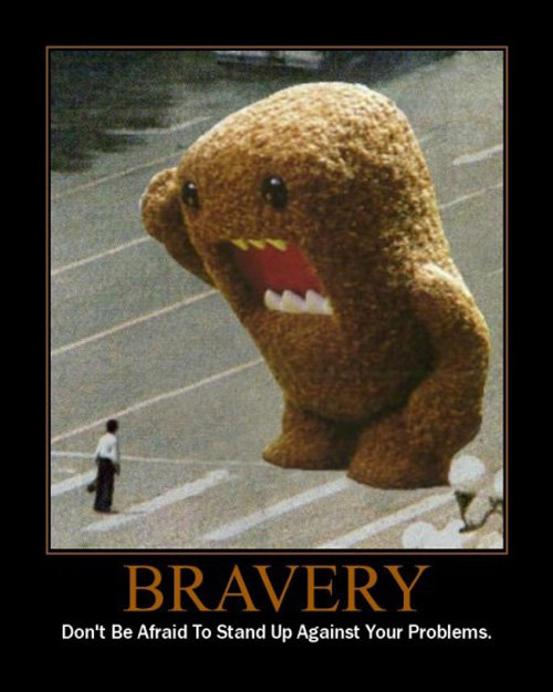 bravery - demotivational posters