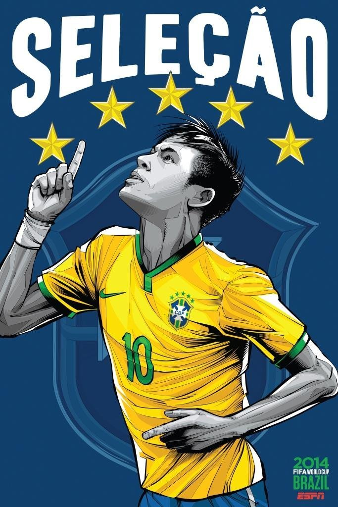 brazil - world cup 2014 team posters