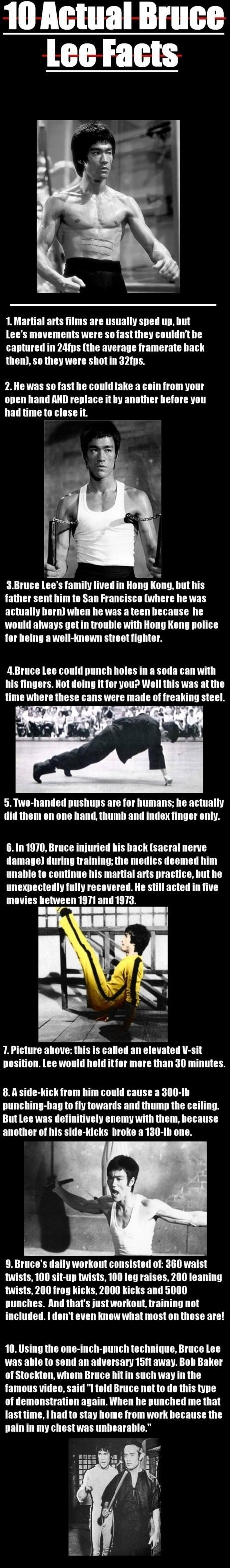 bruce lee facts who doesn like facts