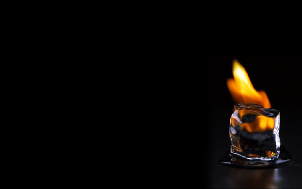burning ice cool desktop wallpaper