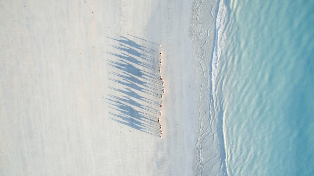cable beach drone photo