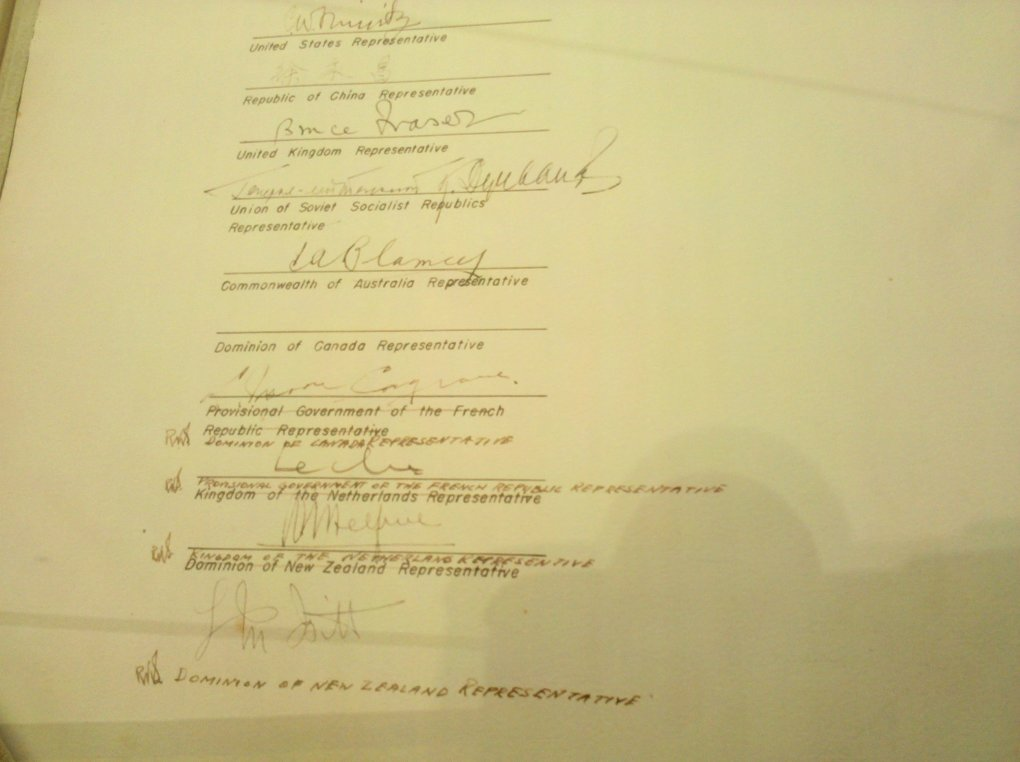 canada what did dof canadian rep signed wrong line during japans