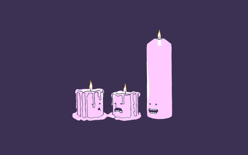 candles - simple funny wallpapers ii