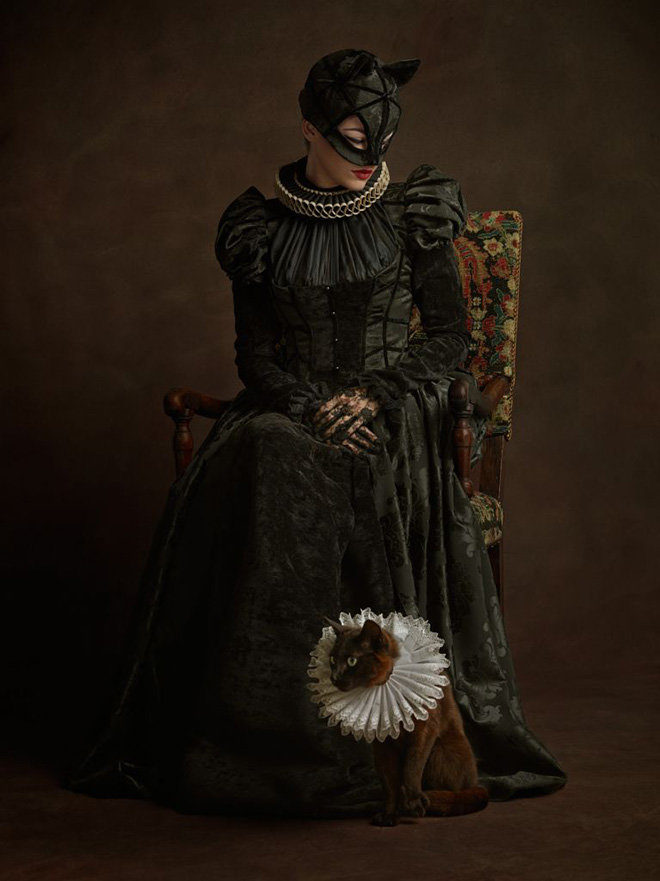 catwoman - modern superheroes go back to the 16th century