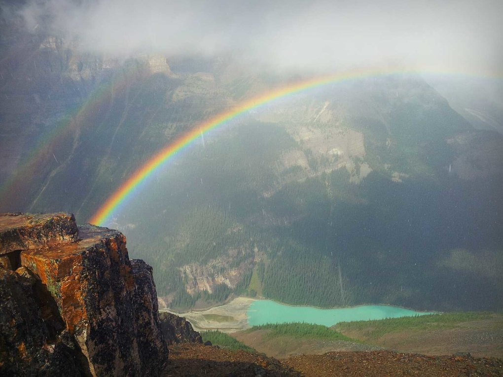 caught best rainbows life today above lake louise top fairview