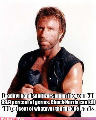 celebrity pictures chuck norris hand sanitizers
