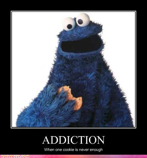 celebrity pictures cookie monster addiction never