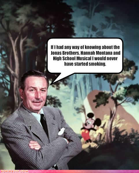 celebrity pictures walt disney never smoking
