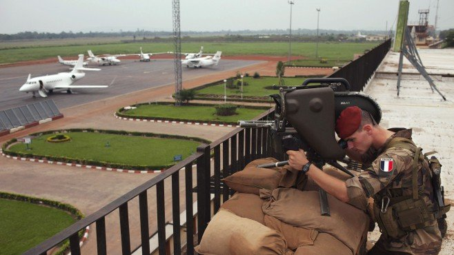central african republic fighting french soldier mpoko airport