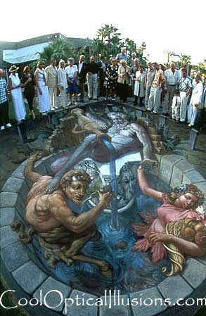chalk amazing fountain art