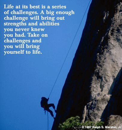 challenge - what would you attempt if you knew you could not fail?