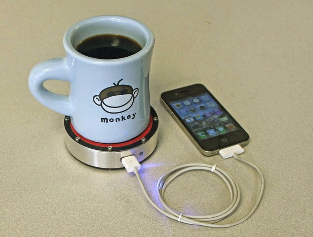 charge phone hot water