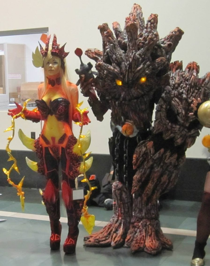 charred maokai wildfire zyra cosplays made