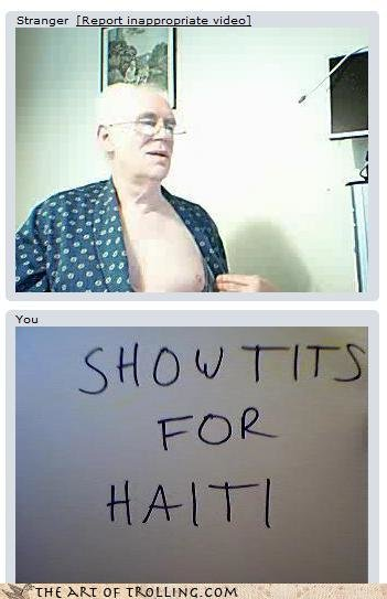 chatroulette trolling not want