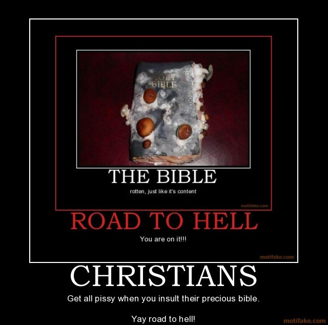 christians fail owned not safe for work christian bible demotivational poster