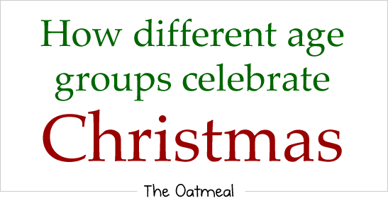 christmas 1 - how different age groups celabrate christmas