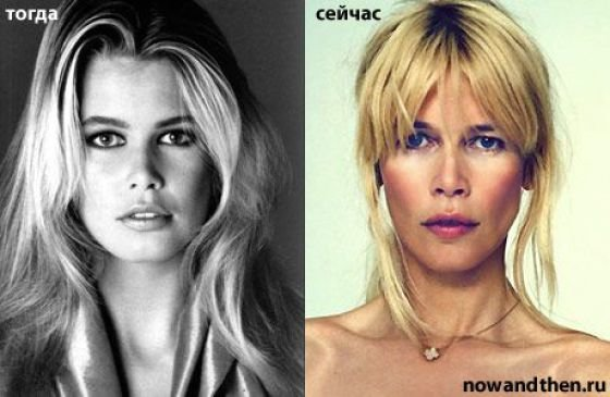 claudia schiffer young