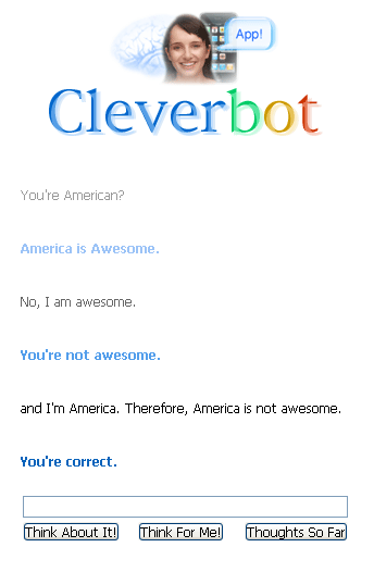 cleverbot said correct