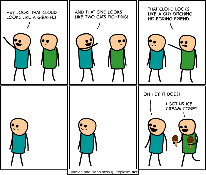 clouds - 50 more cyanide & happiness comic's