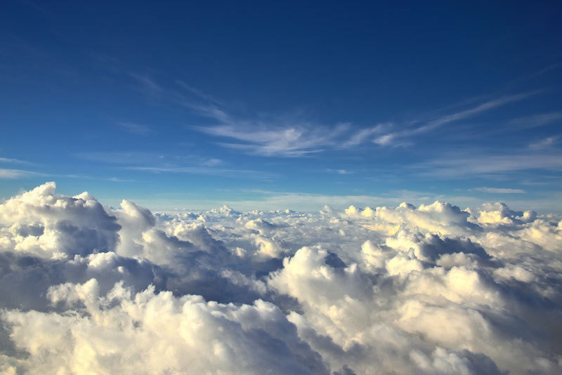 clouds - why you should always try to get a window seat