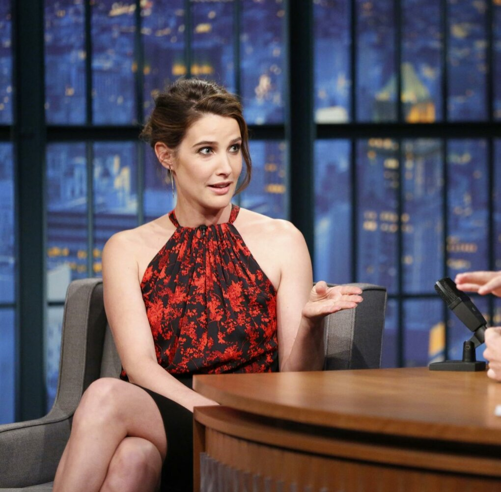 cobie smulders late night seth meyers