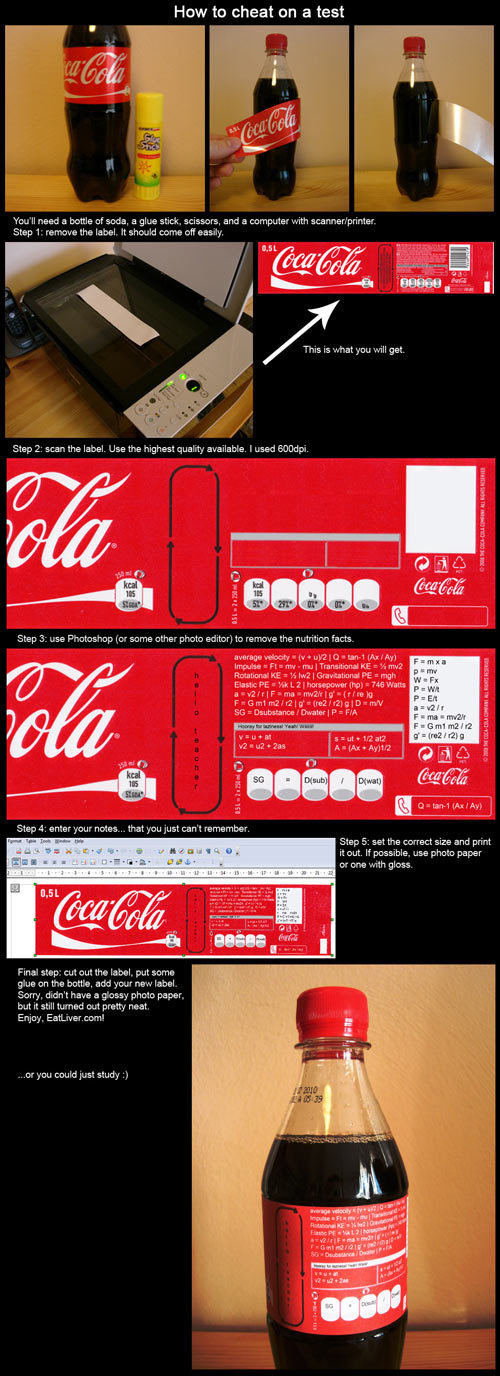 coke label cheat sheet