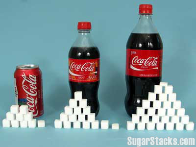 colas - sugar stacks -- how much sugar is in that?